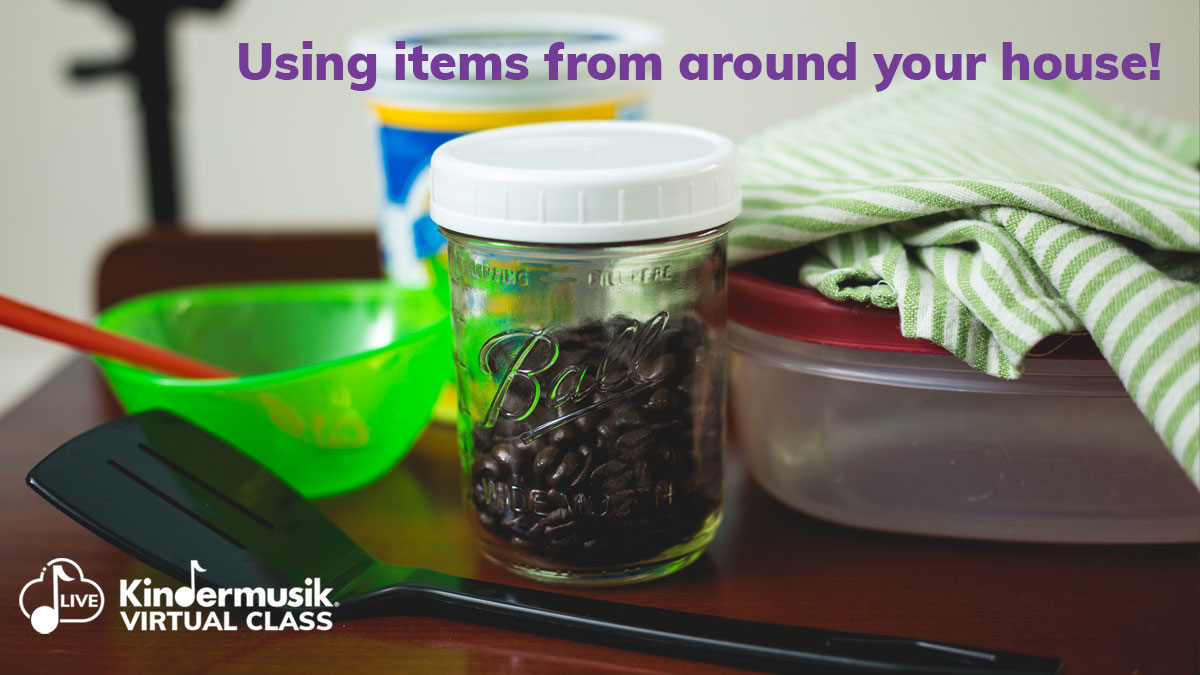 How about creating some shakers, made from various household items!  #kindermusik #homeactivities #shakers #coffee #creativeplay #makingmusic #householditems