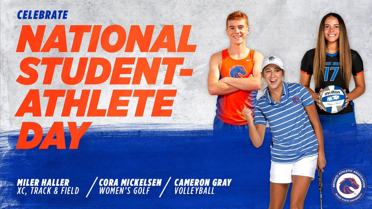 Grateful for the opportunity to celebrate @BroncoSports student-athletes today and every day!  #NationalStudentAthleteDay #BroncosUnite https://t.co/ddc0RVESOC