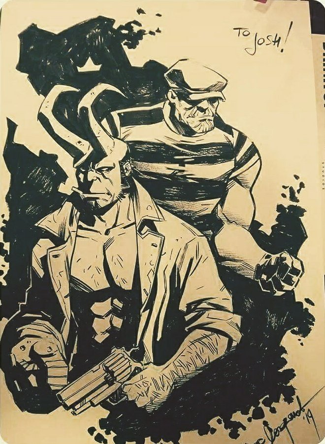 Hellboy and Goon commission by the fabulous @LaraWest. #artlife pic.twitter.com/vr9NIGJhPC