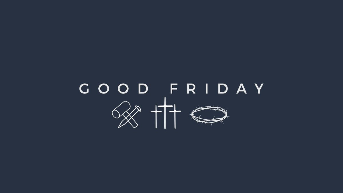 You're invited to join us for our Good Friday service at 7pm EST via Zoom! https://bit.ly/2x8MvsEpic.twitter.com/aIxSUPUFgf