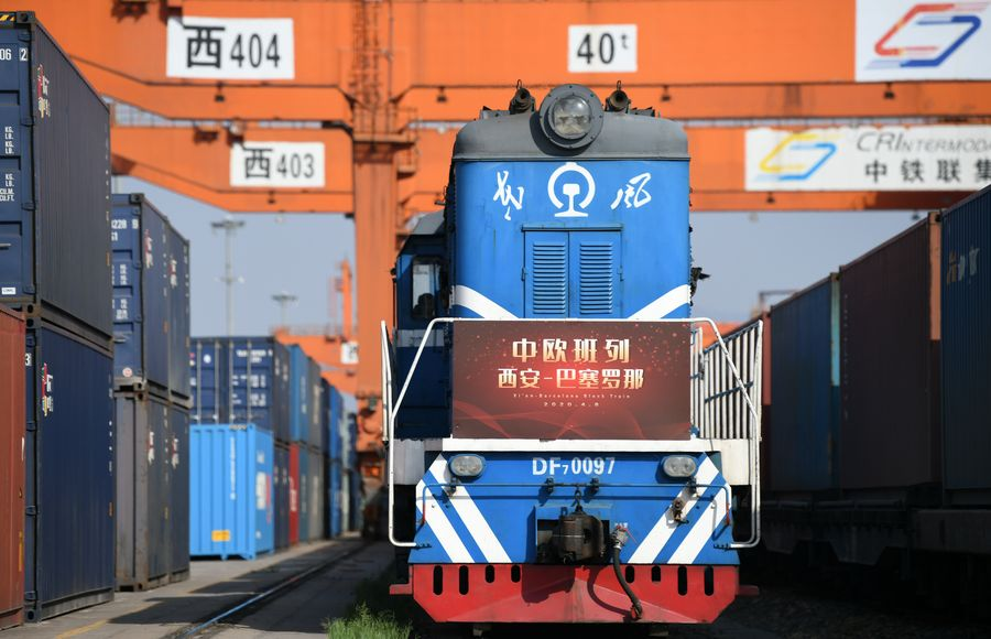 New #China-#Europe freight train route launched in northwest China. http://english.scio.gov.cn/beltandroad/2020-04/10/content_75915128.htm…