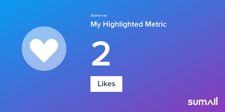 My week on Twitter 🎉: 2 Likes. See yours with https://t.co/u8G7mw4Cg1 https://t.co/QzvuQcl9U0
