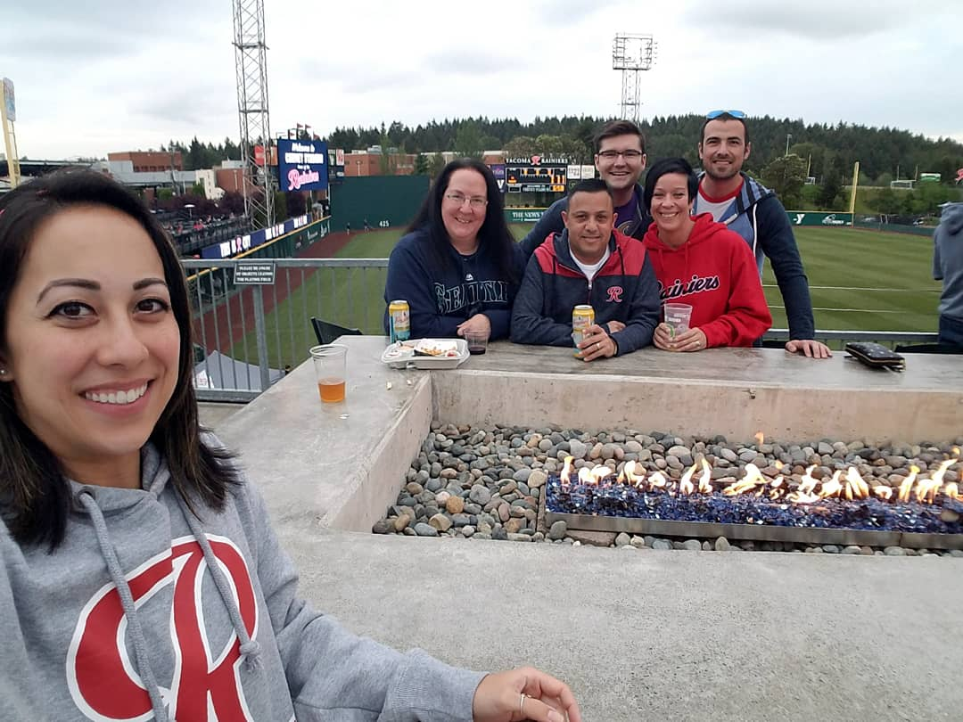 #MiLBAtHomeOpener with the @RainiersLand at Cheney Stadium! Can't wait to cheer on our #Rainiers from the fireplace in the R Bar soon! ❤⚾️ #OpeningDayAtHome  – at Cheney Stadium