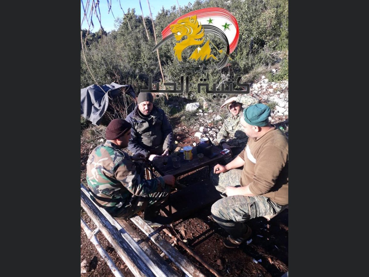 Just another day for the Syrian national defence forces in the #Kabani mountains of northern #Lattakia province #Syria #NDF #Syrianarmyplease feel free to follow for daily Syrian Arab Army updates pic.twitter.com/OMZoq9eXzO