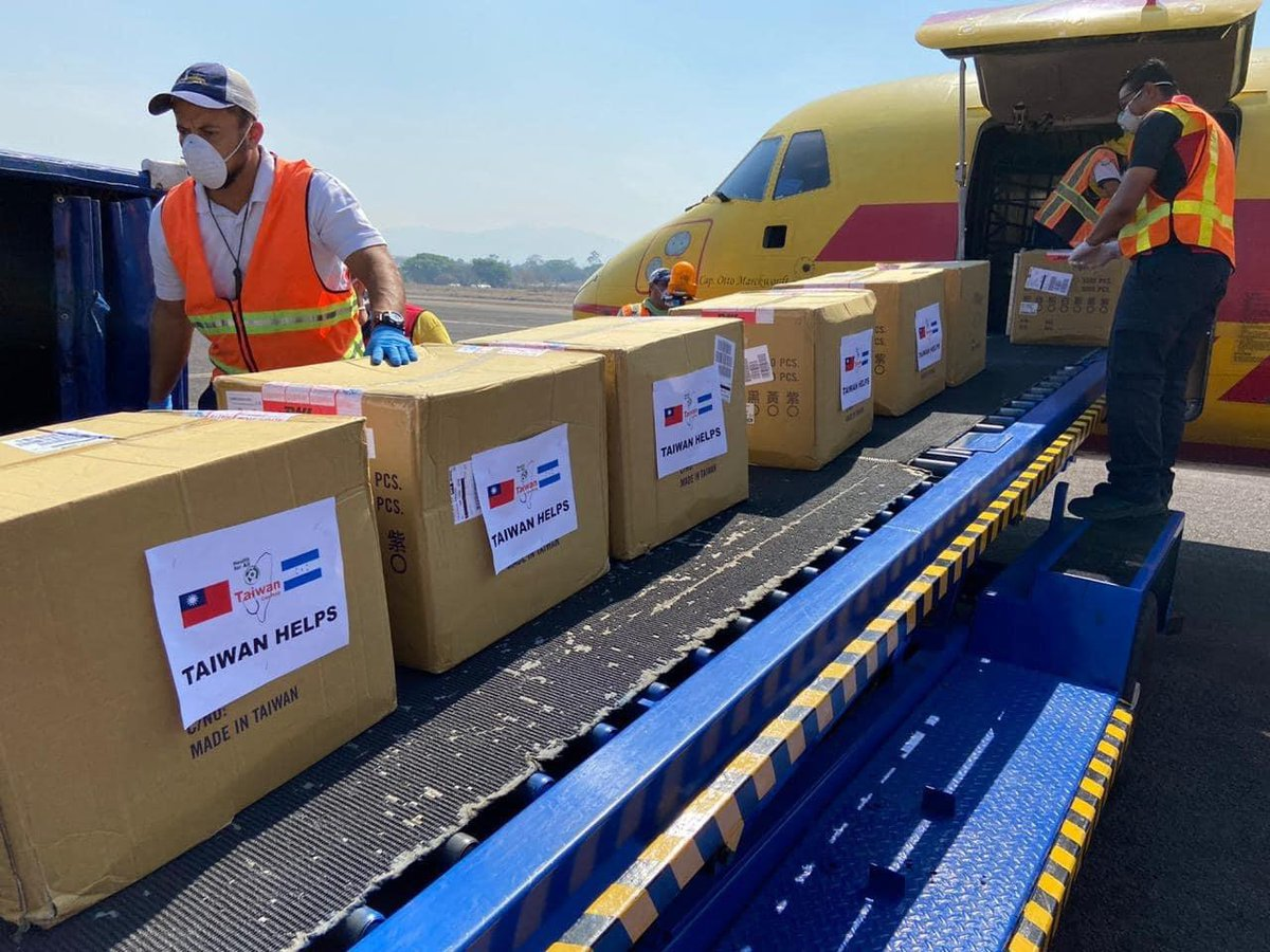 Our assistance to allies in #CentralAmerica has arrived safely. The people of #Taiwan are proud to help friends in a time of need. JW  #TaiwanCanHelp #ThisAttackComesFromTaiwan https://t.co/hQzhoN8B2K
