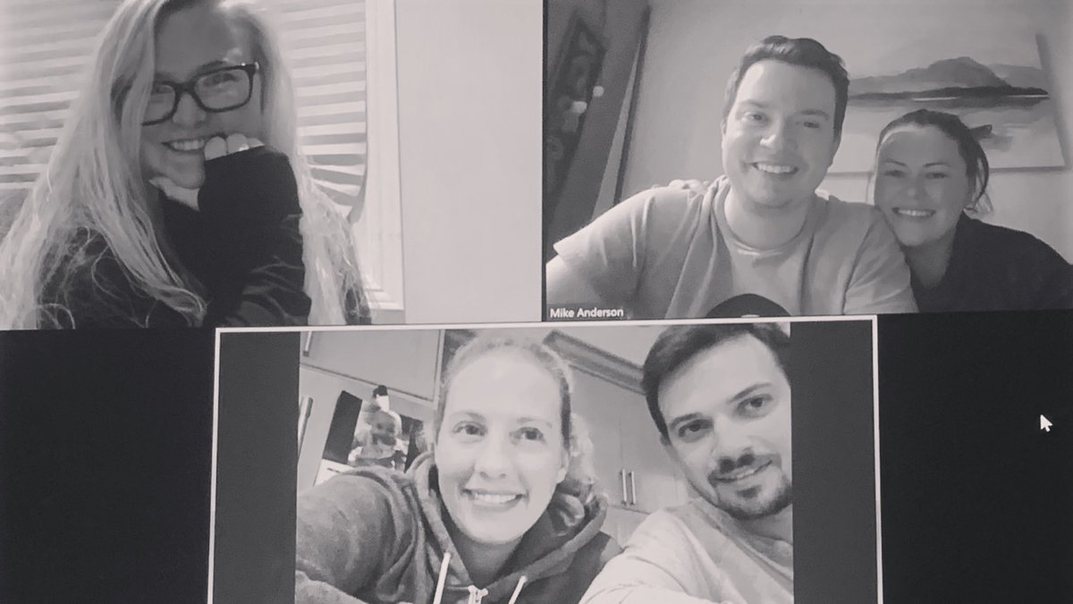 Today we would've been playing in @CurlON_ Mixed Provincials, but instead we're doing a team hangout over Zoom #teambonding #friends #curling
