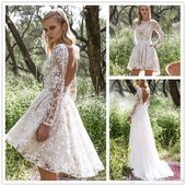 Short Wedding #Dresses  : Vintage Lace Wedding #Dress With Detachable Skirt Cheap Modest Long Sleeve Beaded... - - https://youfashion.net/wedding/dress/short-wedding-dresses-vintage-lace-wedding-dress-with-detachable-skirt-cheap-modest-long-sleeve-beaded-2/ …pic.twitter.com/VAQeyqpefU