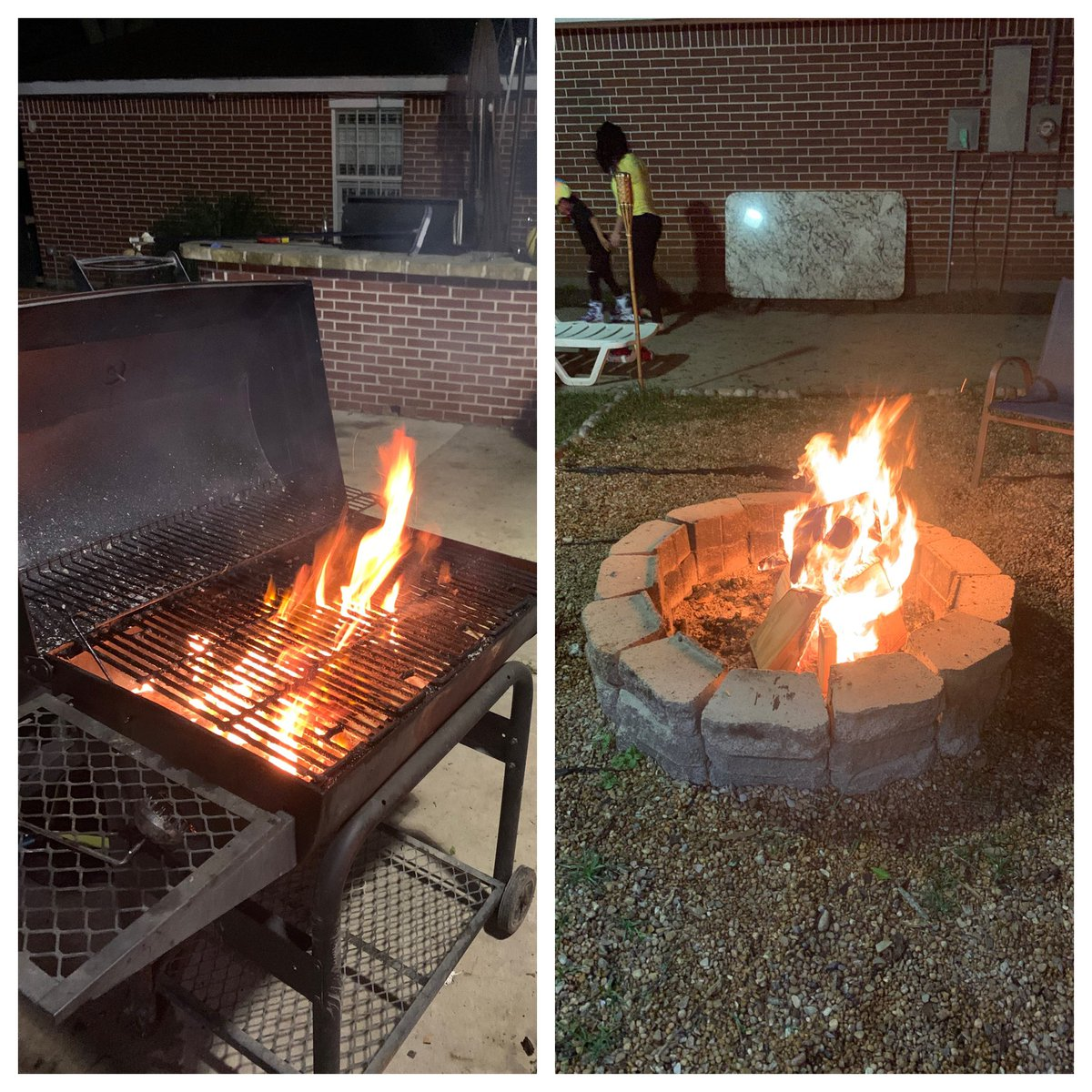 We have the fajita fire and the Bond fire. #blessed #family #babybull #jdexpress