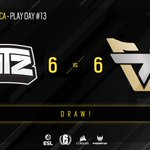 Image for the Tweet beginning: Another draw! @teamoneesports 6-6 @INTZ