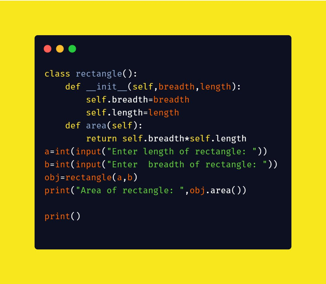 Area of Rectangle Program in Python Programming Language:   #area_of_a_rectangle_python_program #PythonTutorial #Python #coding #programming #ddsry #rectangle #programmer #Python3 #PythonProgramming -   http://DDSRY.COM pic.twitter.com/YowZIoi88i