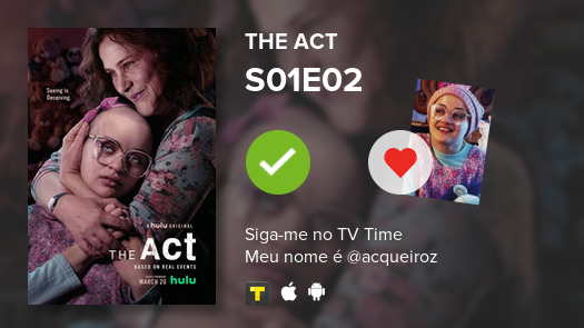 #actI've just watched episode S01E02 of The Act! #act  #tvtime https://tvtime.com/r/1jLRn