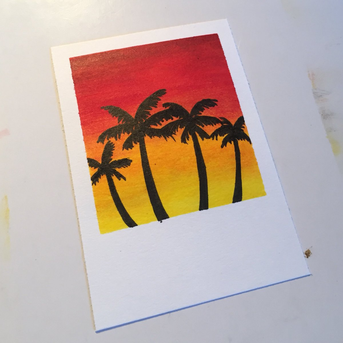 "i had a lot of fun brightening my office with these little #polaroid ""paintings"" today! they're pretty messy given that i had no paint aside from white and ended up using Faber-Castells, but i like them. try it yourself, they're a lot of fun! pic.twitter.com/BBvlWasiWM"