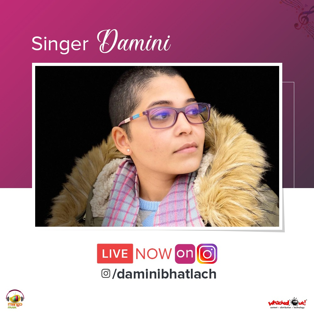 Catch singer #DaminiBhatlach Live Now on her Instagram page and Shoot your questions! https://instagram.com/daminibhatlach?igshid=1vfhf0ec3glq3…   #StayHomeIndia #StaySafeStayHome #StaySafepic.twitter.com/CMf6z8sabB