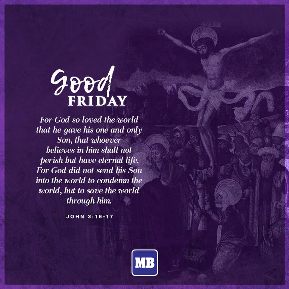 Today is the solemn commemoration of crucifixion and death of Jesus Christ at the Calvary.pic.twitter.com/IBoL1GFFrD