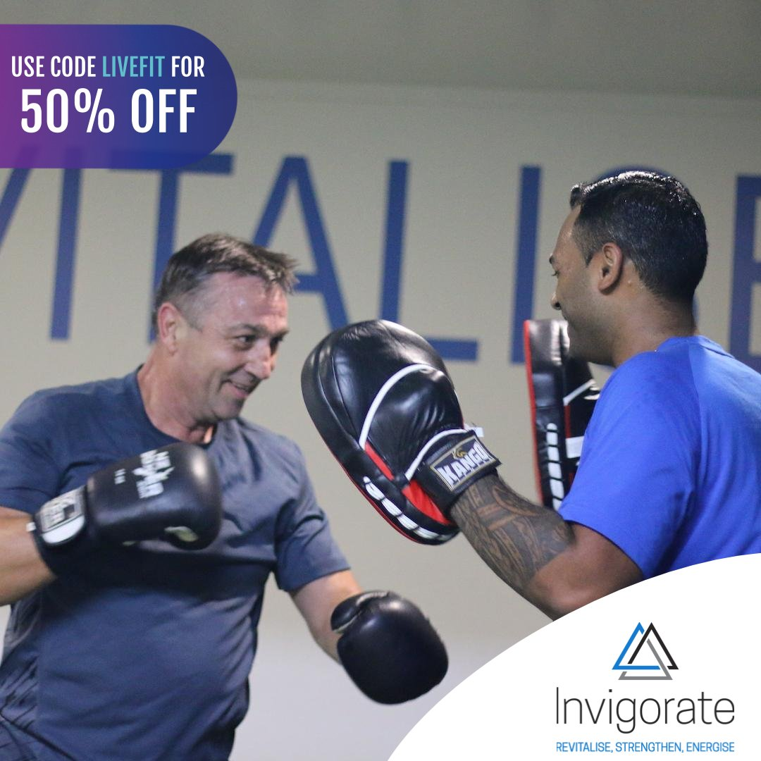 Invigorate is not your average gym, we run small group personal training session with 1-6 in a group, yes, that small.  Use code LIVEFIT to save 10% OFF Massage Guns and 50% OFF Invigorate Gym 21 Day Transformation Program.  DEAL INFO: https://soo.nr/bFujpic.twitter.com/zGRCW0AGiM