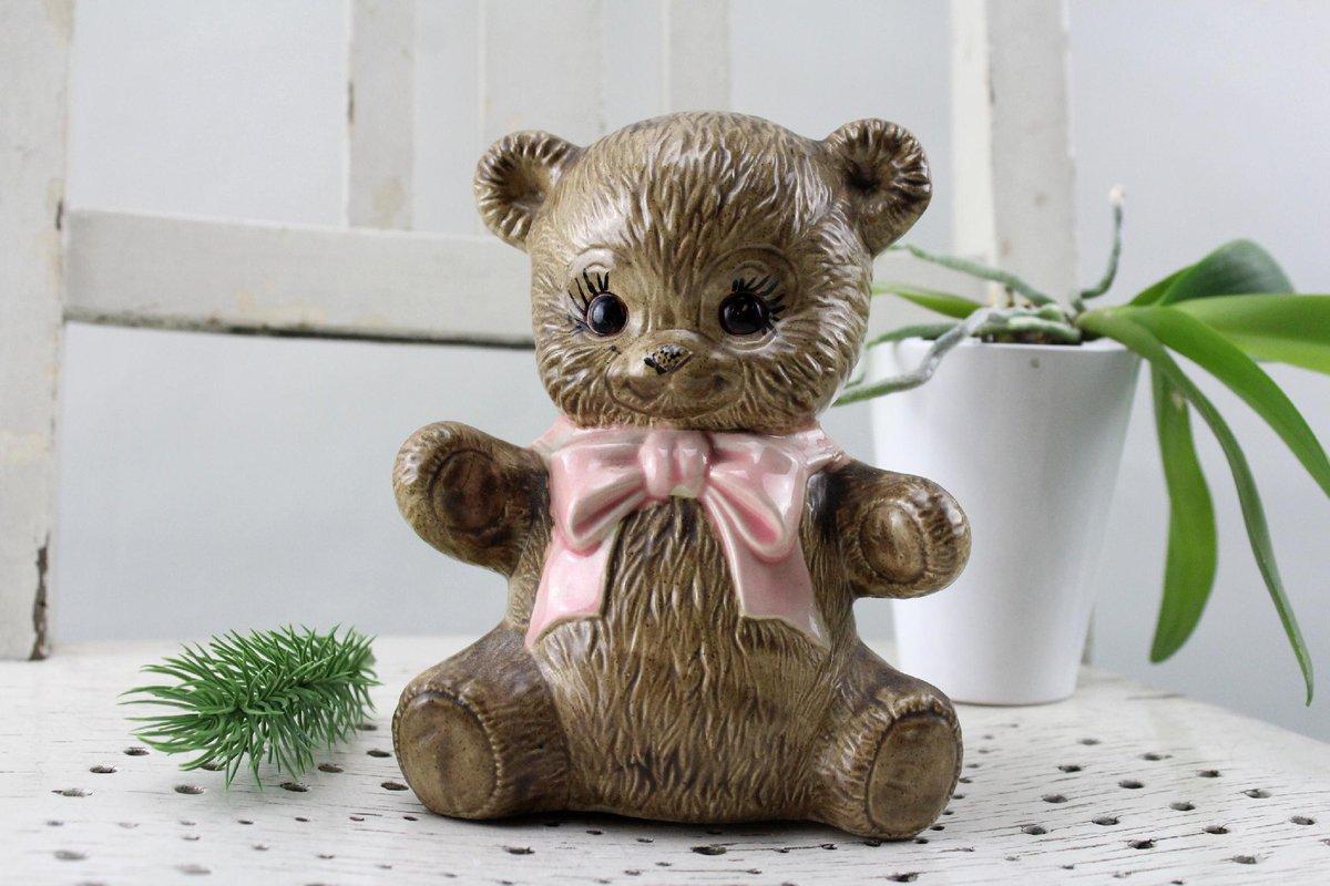 Vintage. Alberta Molds Teddy Bear Porcelain Figurine Handmade 70s Showcases Figurines Rare Collectible Pieces https://etsy.me/2AefQ2u via Etsypic.twitter.com/Tnk7uiZNbq