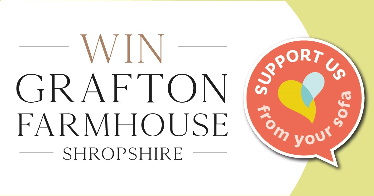 Fancy a 6-bedroom farmhouse? When Nigel and Jane heard of support us from your sofa, they decided to raffle off their furnished home in North Shropshire and give us 10% of the ticket sales. The raffle opened today and tickets cost £2 each. Go to https://t.co/gvm0ckPIqd to enter. https://t.co/DCW23MSYtA