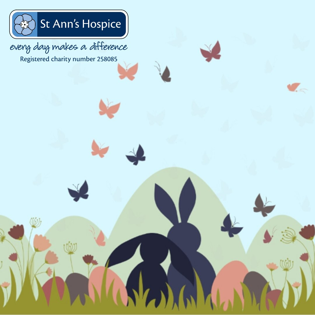 Make something beautiful this Easter with our virtual Butterfly Meadow!   Simply choose a butterfly, donate and upload your message. You can share this on social and even send an e-card to your loved ones.   https://bit.ly/2xmOfye  #Easter #TeamStAnns #ButterflyMeadow pic.twitter.com/kMRd3OwJWw