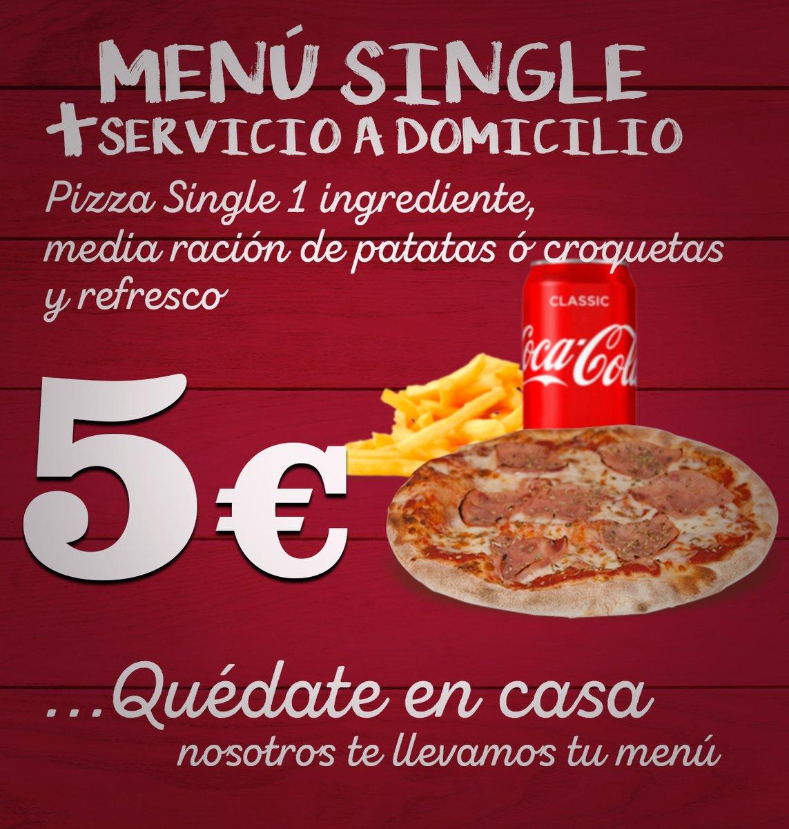 Puedes pedir a domicilio también nuestro Menú Single desde sólo 5€... En #Almoradí ya estamos prestando servicio y en #Guardamar abrimos a partir de las 18:00 #QuédateEnCasa #Pizzalovers pic.twitter.com/zqWoZm8zTQ