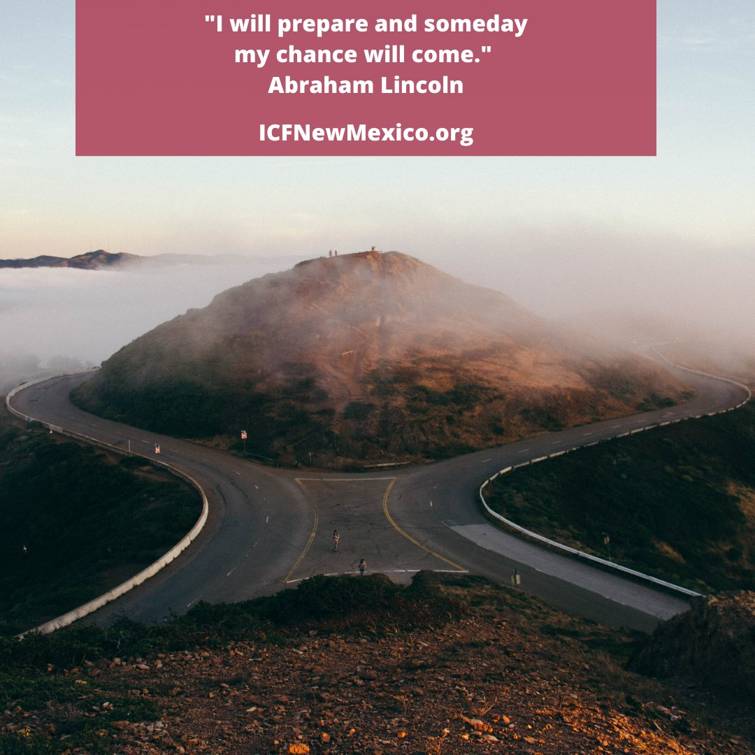 """""""I will prepare and someday my chance will come."""" Abraham Lincoln #FridayFeeling #FridayFollow #FridayReads #ICFNM #ICFNewMexicopic.twitter.com/uae1N6wzS7"""