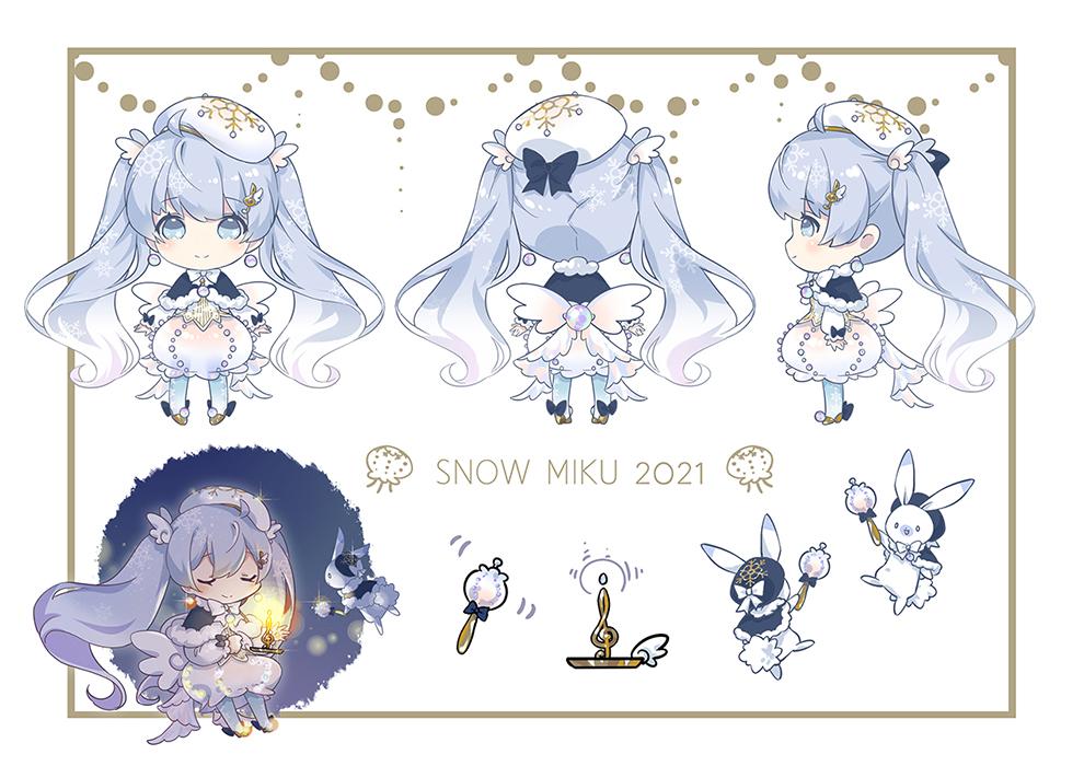 雪ミク2021投稿しました、よろしくお願いいたします✧*。#初音ミク #2021年雪ミク衣装 piapro.jp/t/iR5_