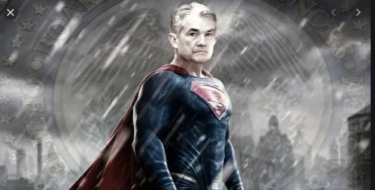"""Adam Tooze on Twitter: """"Remember Ben Bernanke as superhero? I have been  worrying how long it will be before Jerome Powell gets the same treatment …  well wonder no longer! Arise Jerome"""