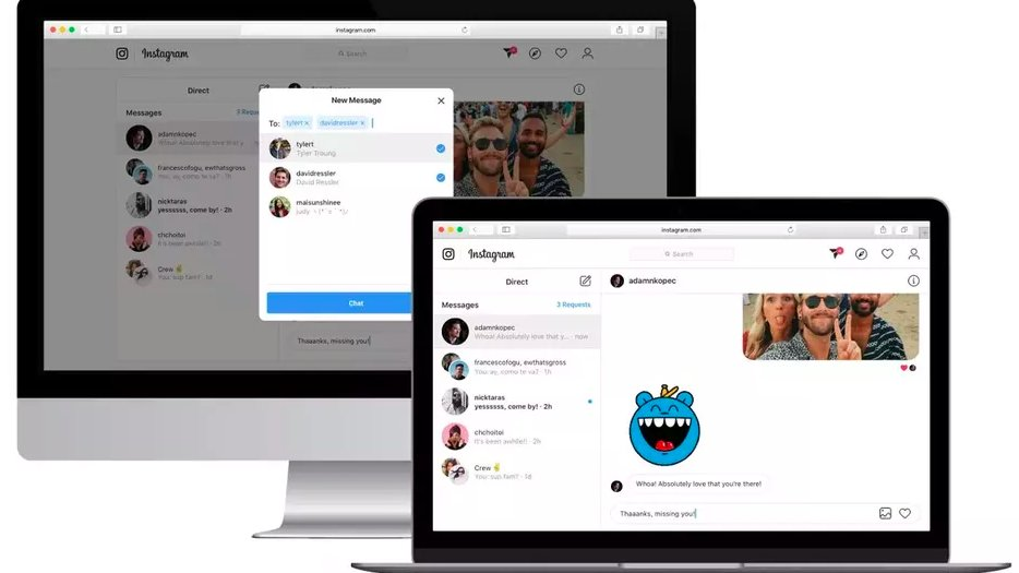 Instagram DMs are now available for everyone to use on desktop