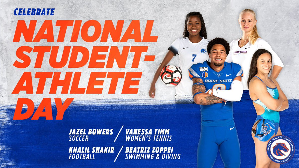 Today closes our #NationalStudentAthleteDay week of celebrating @BroncoSports student-athletes. This week and every week, we appreciate you and everything that you do to represent Boise State!  #BroncosUnite https://t.co/k4rJwsWbwN
