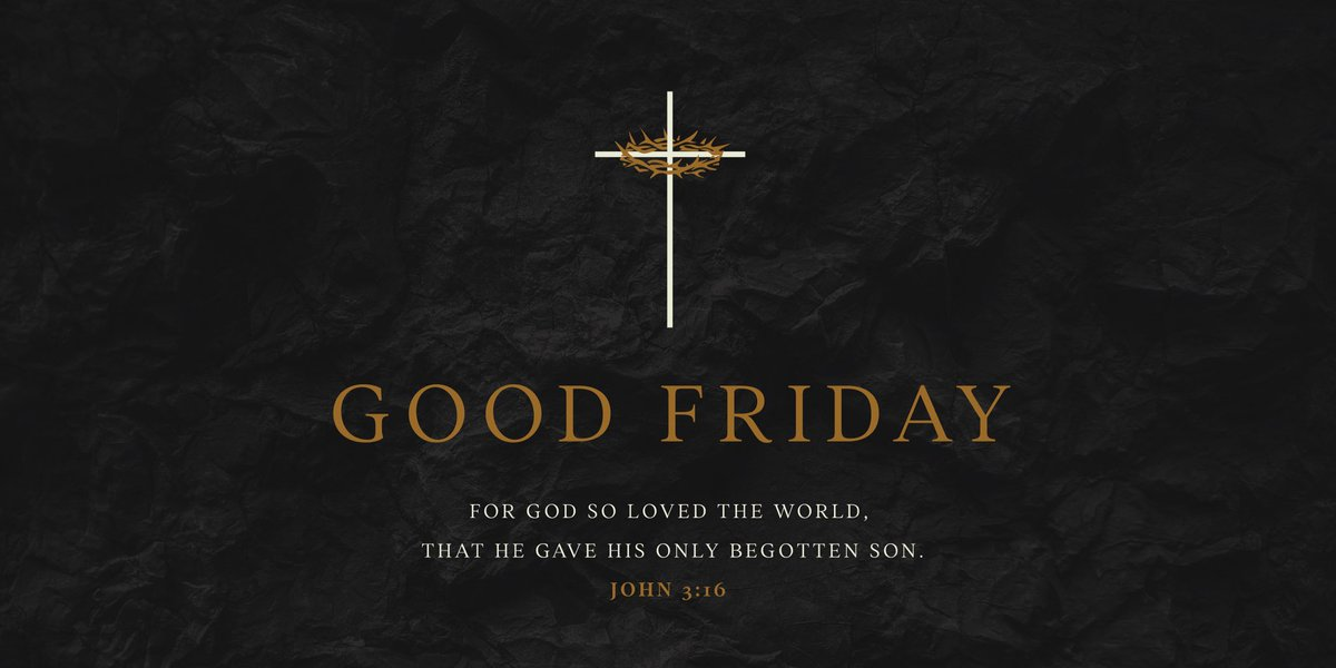 I hope everyone has a happy and blessed #GoodFriday.