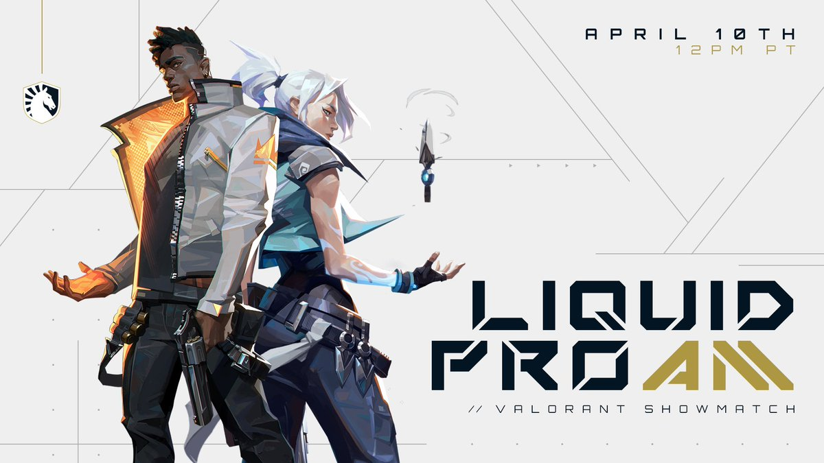 Check me out today at 3pm EST playing in a Valorant Showmatch with players from @TeamLiquid, EDM  artists and others in a LIQUID PRO AM. @PlayVALORANT  Draft of players - https://t.co/b75Ecri2fa Watch me play - https://t.co/DJw6RxNpXJ https://t.co/Yg5HoKuAZ8
