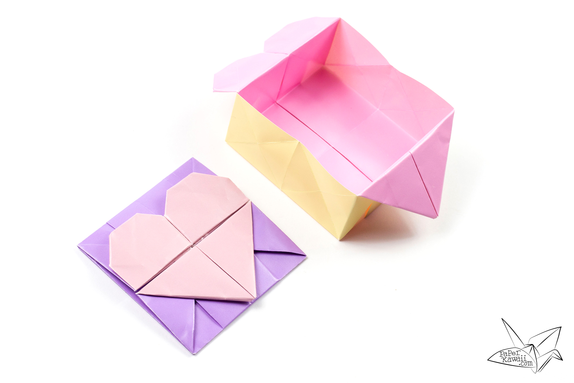 Origami Heart Box (Tutorial) - YouTube | 1280x1920