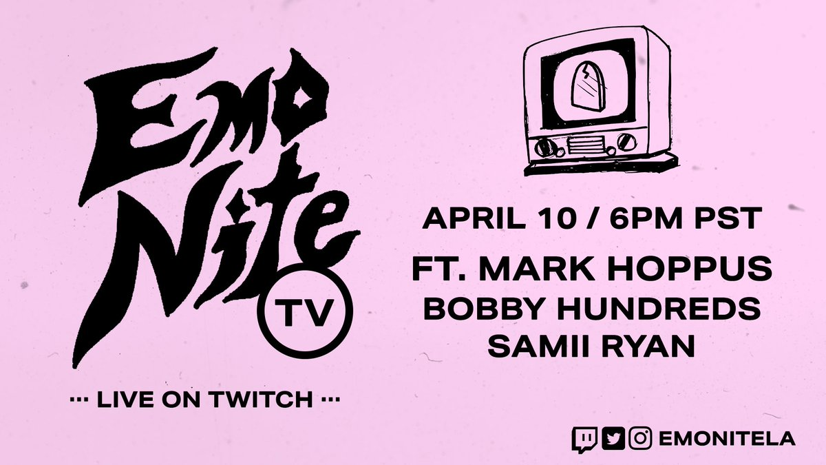 Looking for something to fill your Friday night? Of course you are! Tune in to virtual @emonitela tonight at 8pm CT. 👉 twitch.tv/emonitela