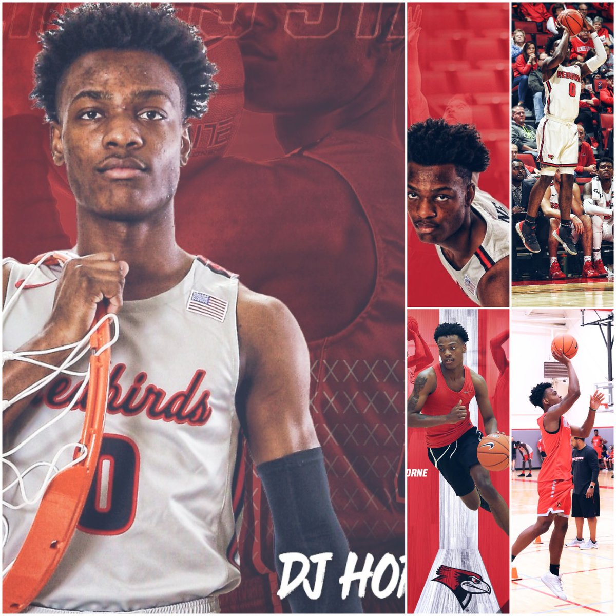 Freshman @djhorne0 ended his season with the 3rd-highest -point field goal percentage by a freshman in #REDBIRDhoops MBB history #makinghistory  .421   Victor Williams  .420   Tarise Bryson  .402   DJ Horne<br>http://pic.twitter.com/IQmekmxJTk