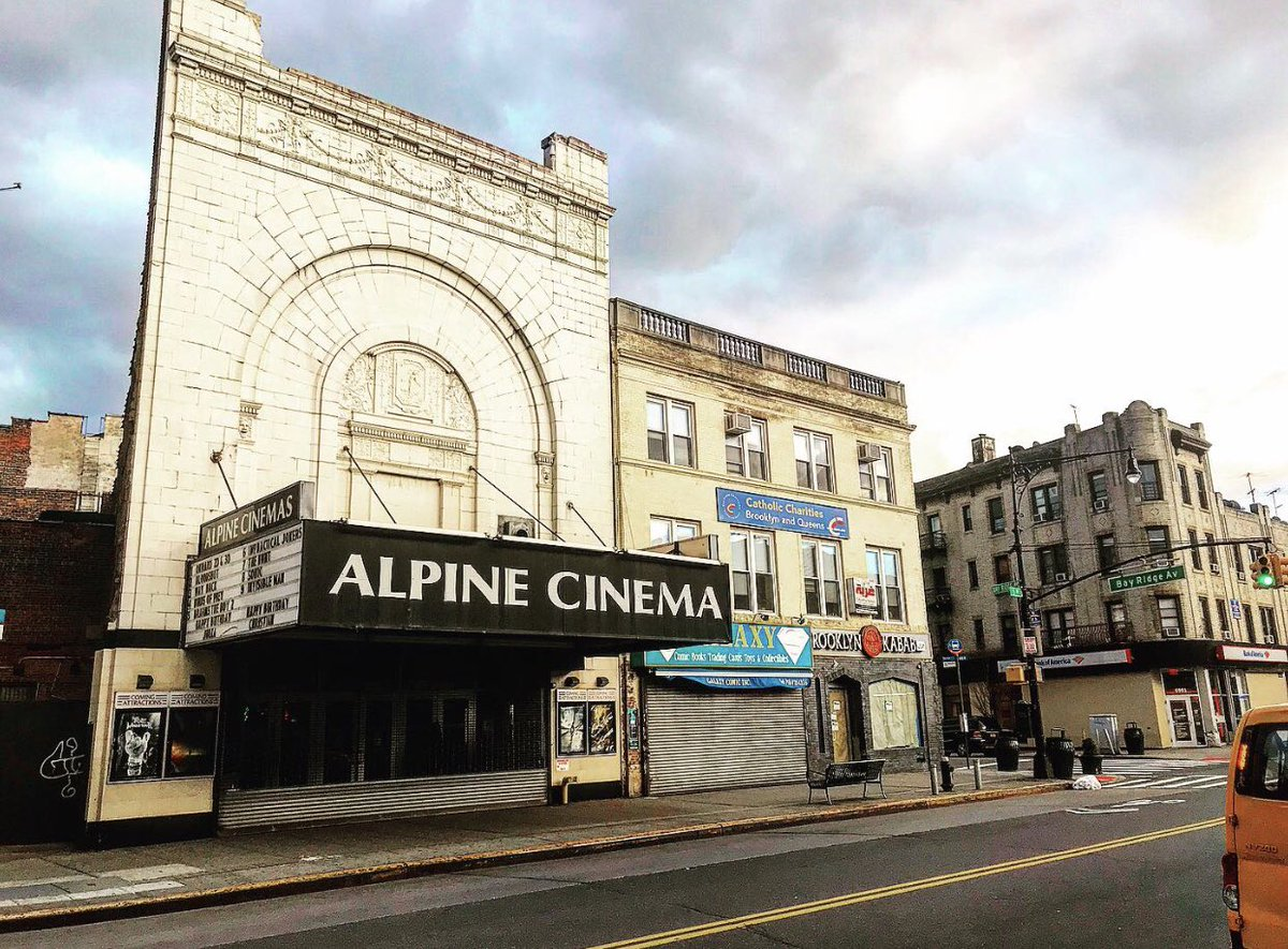 Sujewa The Secret Society For Slow Romance 2021 On Twitter In The 10 Yrs I Ve Lived In Nyc Never Saw Alpine Cinema Bay Ridge Brooklyn Closed Like This Sad Is drinking a crispy little by suarez family brewery at bay ridge alpine cinema. twitter
