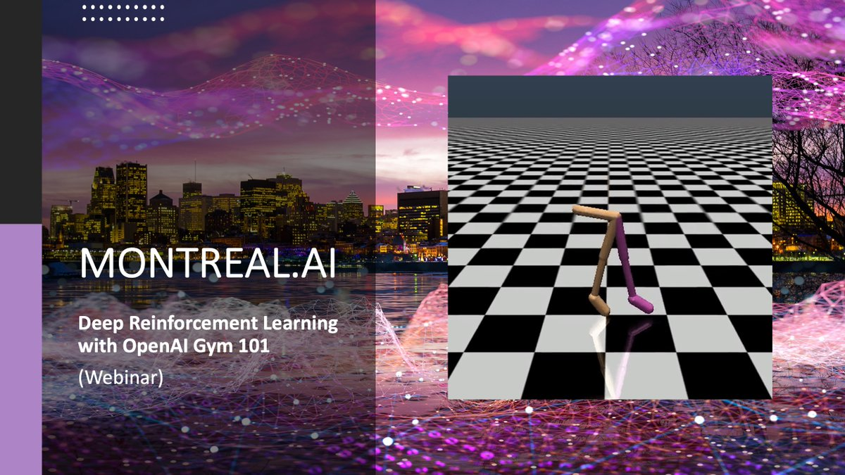 Deep Reinforcement Learning with OpenAI Gym 101  AI Agents Learning from Experience, for All.  WEBINAR: https://t.co/rxWsohHnfx  #DeepLearning #ReinforcementLearning #OpenAIGym https://t.co/B22C0NpjQl