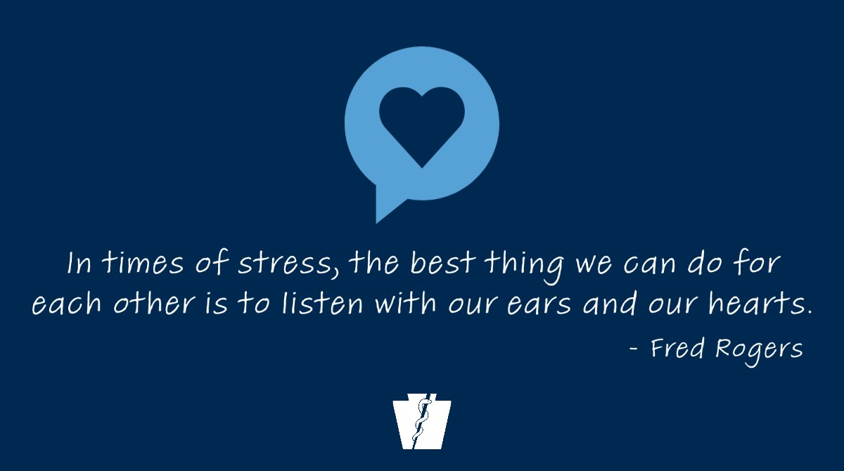 Pa Department Of Health On Twitter We Know This Isn T Easy Our Favorite Pa Neighbor Mister Rogers Has Some Good Advice In Times Of Stress The Best Thing We Can Do For
