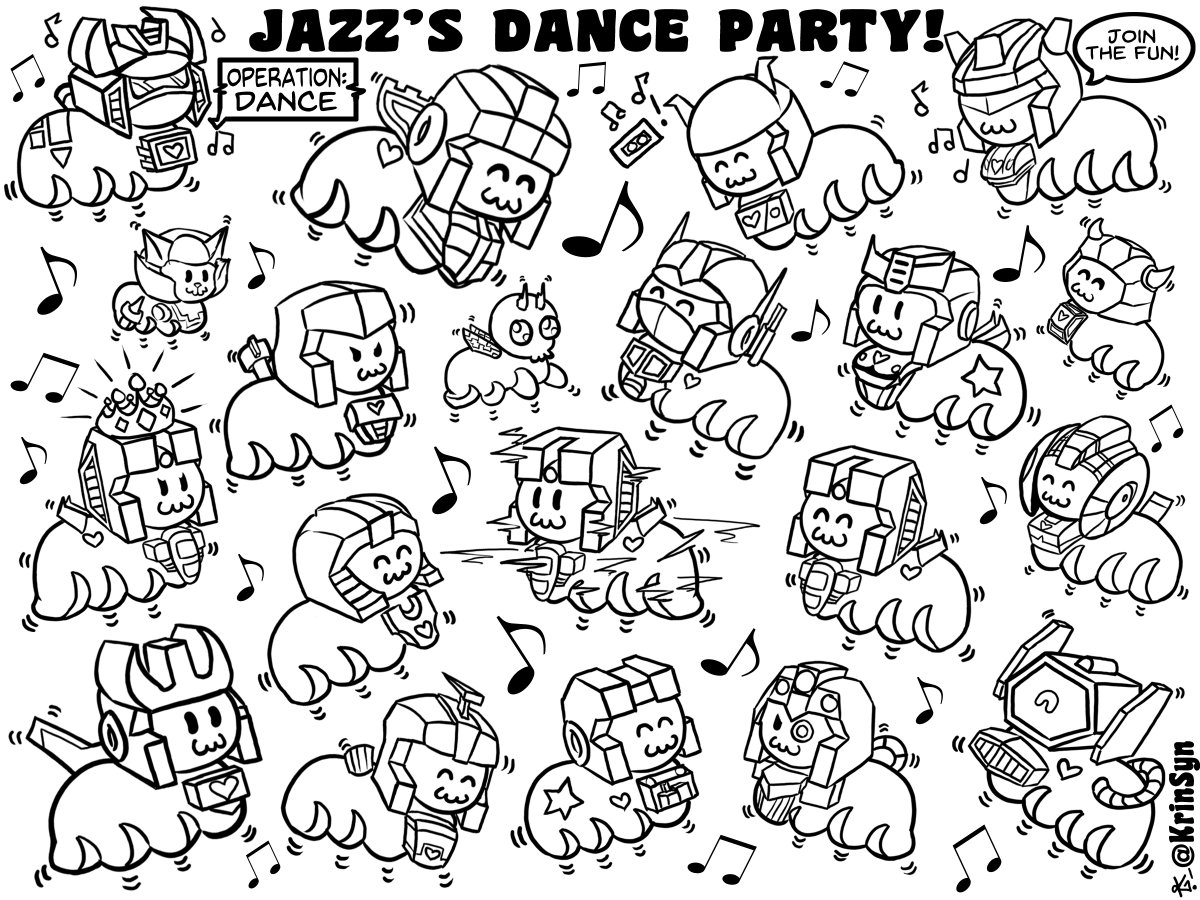 Furby coloring page. Dancing party rockers. Disco ball, balloons ... | 900x1200