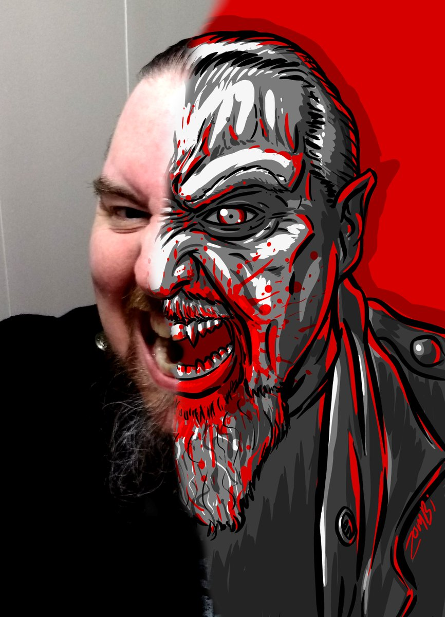 """Here's the result of todays #stream! Turning the lovely @beardie_viking into a #LostBoys #Vampire... then the adorable @aravelle into the Dark Lady Sylvanas Windrunner from #WOW. Feel free to DM me if you'd like to #commission me to be """"tooned"""" in a future Fun Friday! #digitalartpic.twitter.com/Gl0rz9P6OA"""
