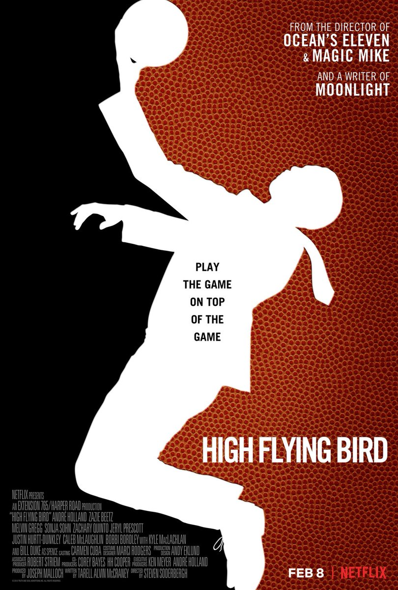 Watch the great #StevenSoderbergh prove that only thing needed to make a great movie is some creativity and an #iphone with our #SportsFlixFriday #POTD, a 2019 sleeper u need to watch #HighFlyingBird! This is #Soderbergh's 2nd film shot on an #iphone & it's a must for hoop fans!pic.twitter.com/pfdhpM4wG4