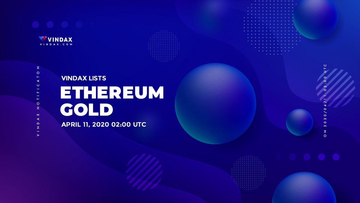 #Ethereum_Gold $ETG Listed on #Vindax #BTC #ETH #USDT #VD