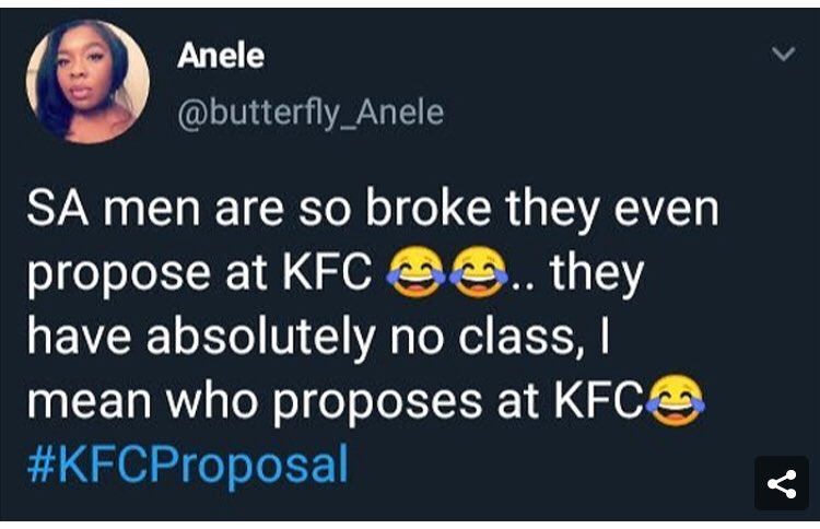 Do not mess up with #BlackTwitter it can either make you famous or crash your career for good. Please ask Anele who has tweeted bad about our #kfcproposal #ShimzaMustFall