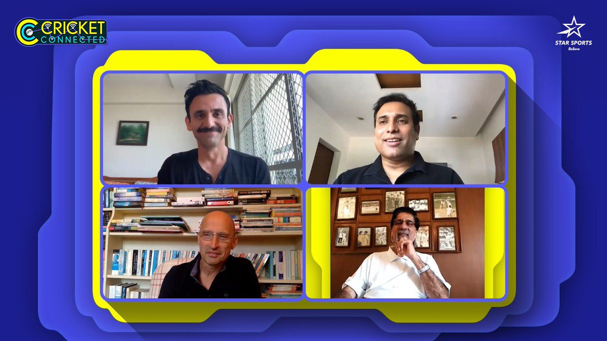 Nice to catch up with @jatinsapru @KrisSrikkanth and @VVSLaxman281 . Will be on @StarSportsIndia #CricketConnected this evening. https://t.co/Siq3RK7lnJ