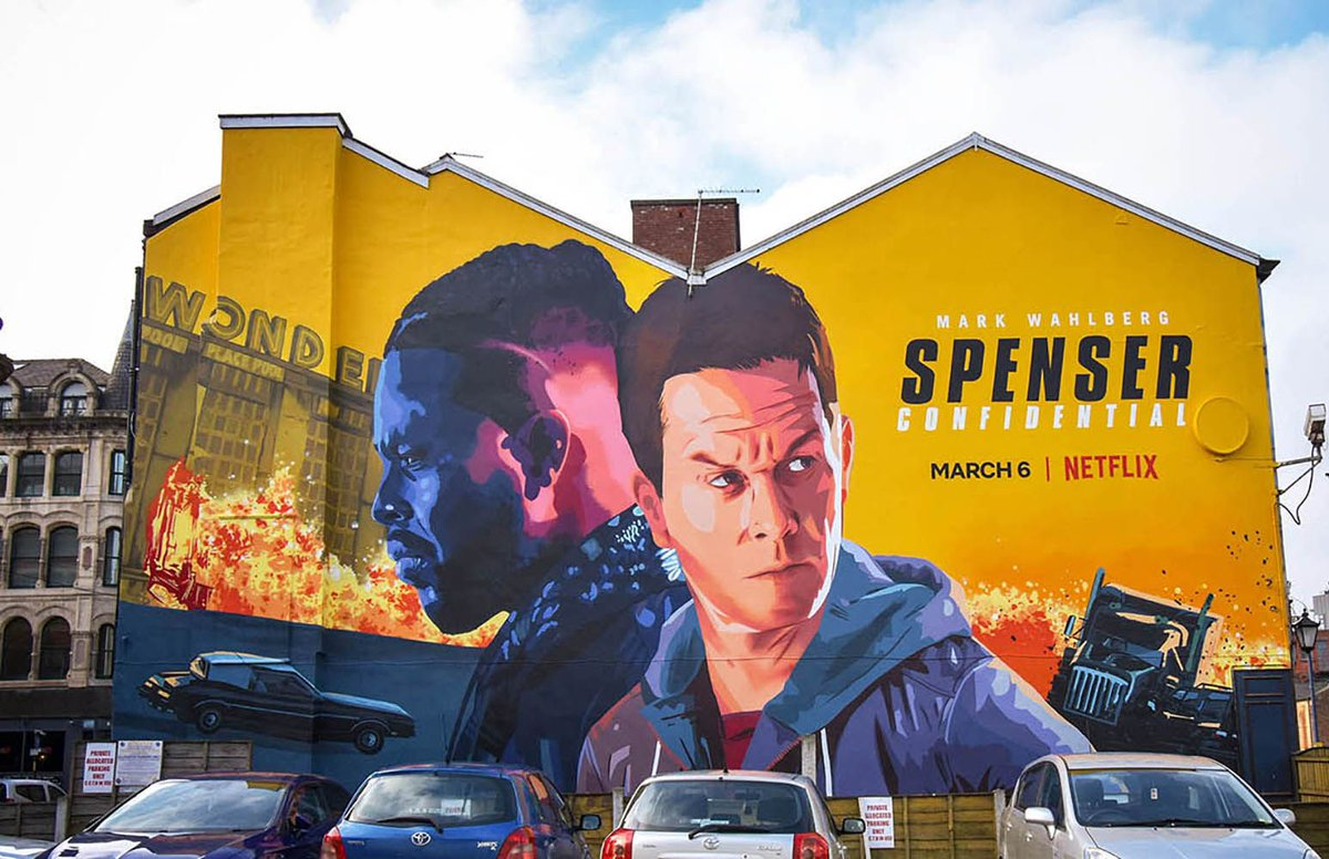 Directory Of Illustration On Twitter Spenser Confidential By Illustrator Chris King Represented By Illustrationx Dirtectoryofillustration Netflix Commission Chris King For Some Epic Mural Art To Promote Their New Action Film Spenser