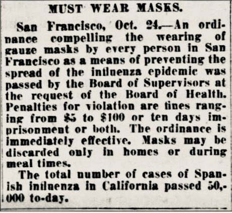 "Mikel Reparaz on Twitter: ""San Francisco, 1918. Mascarilla ..."