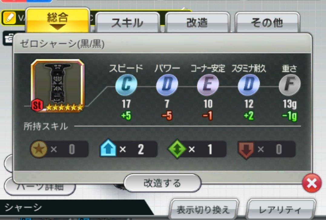超速 グランプリ ゼロ シャーシ