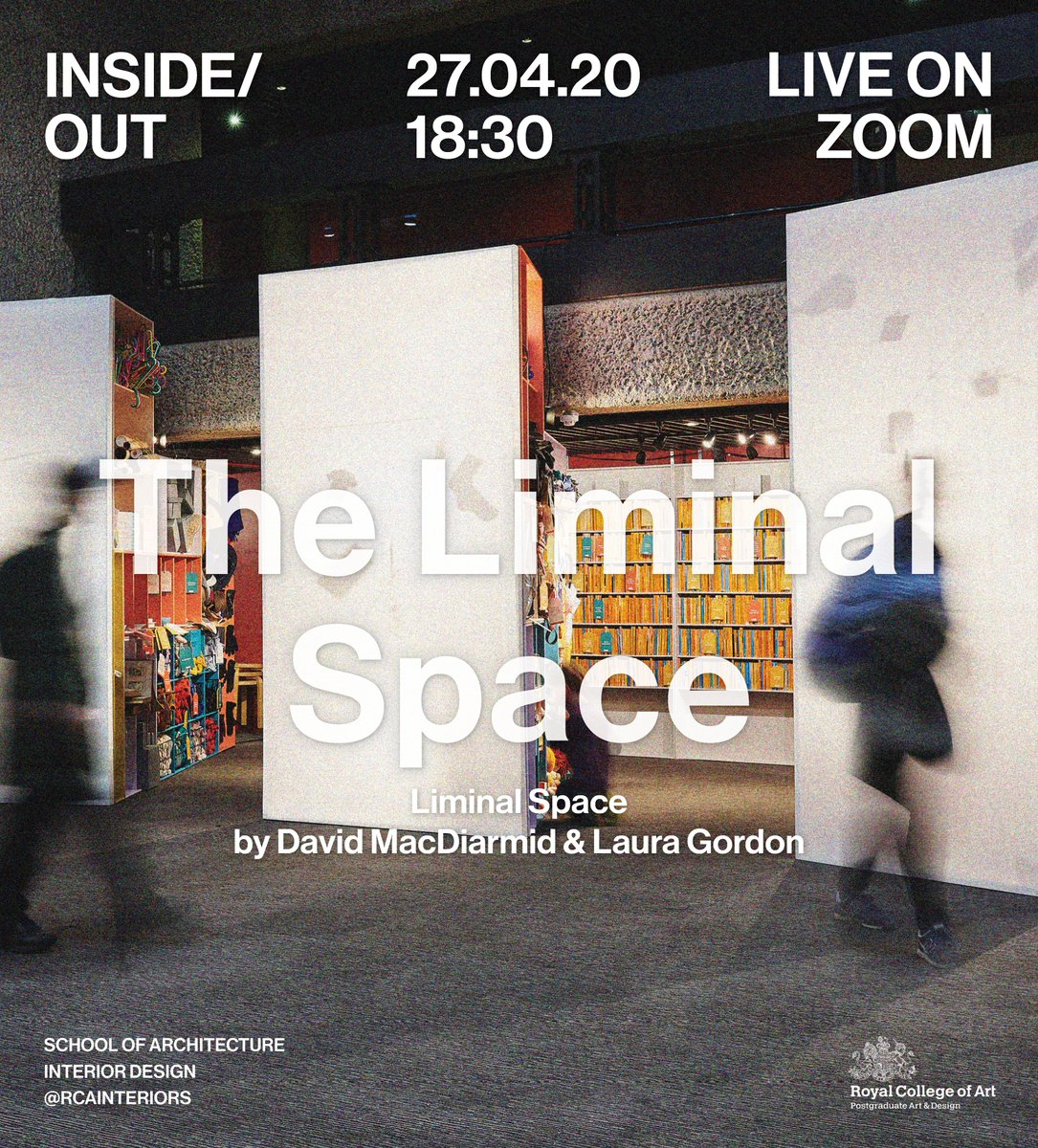 Our next Inside/Out Lecture Series is coming up! Inside/Out Lecture Series: The Liminal Space Monday 27th April 2020 at 6.30pm (GMT). @TheLiminalSpace will be live streamed on Zoom. Reserve your seat at: https://t.co/j9pPWwl6Xw https://t.co/v05nfO6iJW