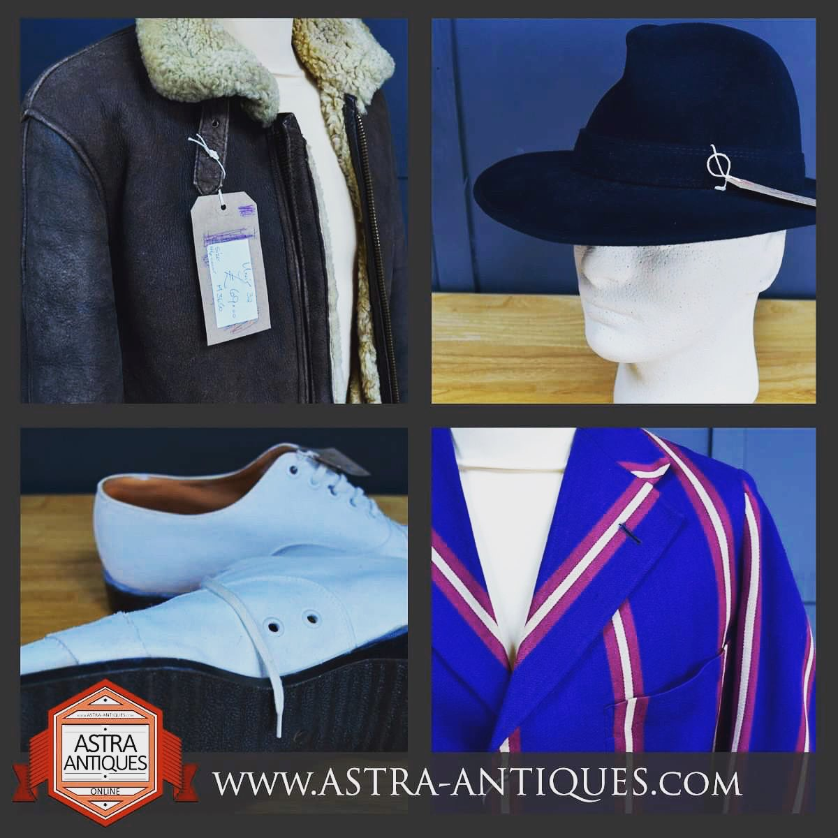 New items added to our men's vintage clothes section over on the website where you can have a virtual shopping experience @www.astra-antiques.com #vintageclothes #retro #vintagefrocks #retro #vintagehats #virtualantiquesshopping #astraantiquescentre #hemswell #lincolnshire #mens https://t.co/KUGIwFOBqD