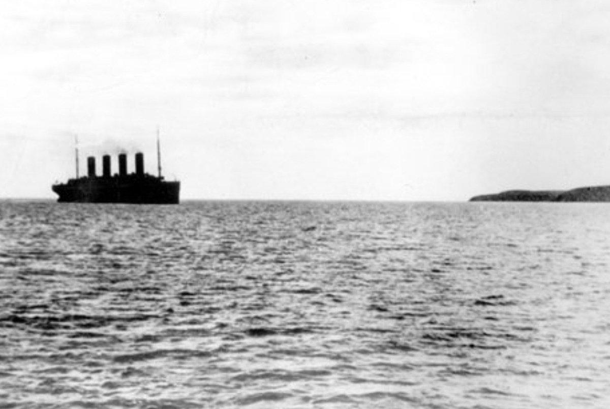 Titanic departs Queenstown (Cobh), Ireland, today 1912--never to be seen afloat again: