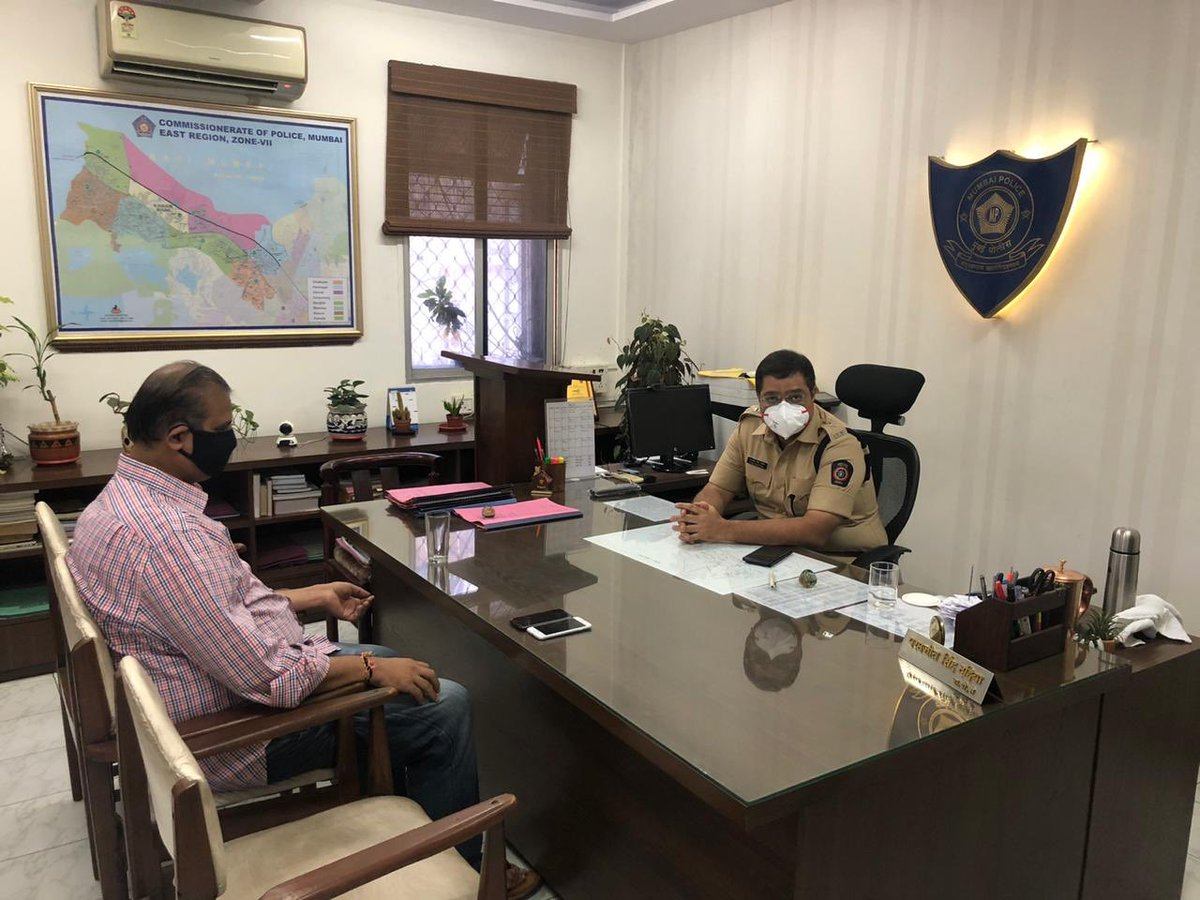 Mihir Kotecha On Twitter Had A Meeting With Our Dcp Zone 7 Starting Tommorow Drone Surveillance Will Be Done In Mulund Request All Citizens To Avoid Timepass Social Gatherings On Terraces And Open Spaces