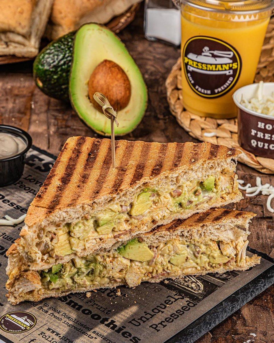 Avo + Chicken + Bacon = Hunger Pangs! Order our signature Chicken Avo Bacon sandwich! Order via @deliveroo_ae @zomatouae @talabatuae @drivuapp  #PressmansSandwich #HotFreshPressed #UAE #DubaiFoodies #Foodies #Sandwich #Salads #PressedWraps #UAERestaurants #lovesaladpic.twitter.com/PlPJtRESAu